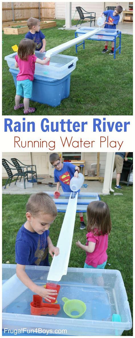 build  rain gutter river  running water play water