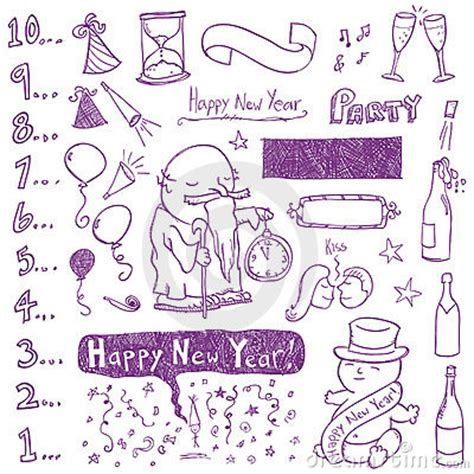 new doodle new year doodles stock photos image 16626003
