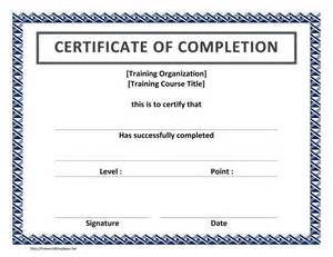 Certificate Template Pdf by Completion Certificate Template Certificate Templates