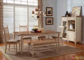 Bench Dining Room Sets cottage cove bench seating casual dining room set
