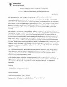 Hemodialysis Cover Letter by Resume Exle Hemodialysis Technician Cover Letter