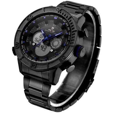 Traveller Tempat Jam Tangan Sport Isi 3 Black Crem weide jam tangan digital analog stainless steel