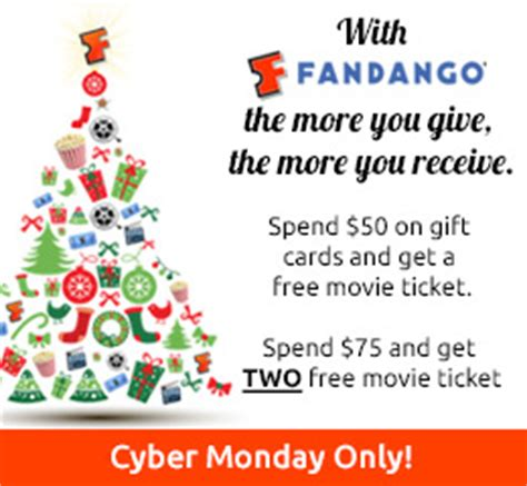 Buy Movie Tickets Fandango Gift Card - fandango free movie tickets when you buy at least 50 in gift cards shopportunist
