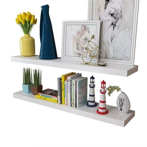 Special Floating Shelves Uk 80x15 Laris 2 white mdf floating wall display shelves book dvd storage vidaxl co uk