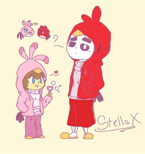 Stella X by Sans X Frisk Undertale Two Birds Uhh By Stella X