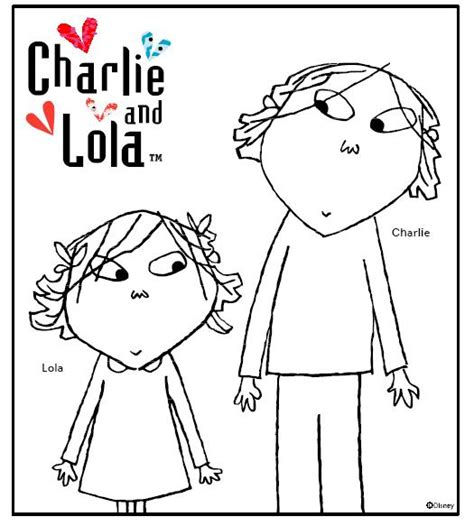 free coloring pages of charlie y lola