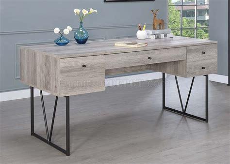 analiese pc writing desk set   grey driftwood