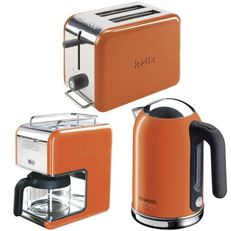 orange kitchen appliances new orange kenwood kmix boutique kettle stylish modern