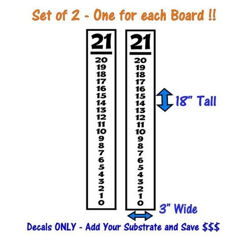 corn hiolescore card template scoreboard decals set of 2 18x3 diy sign by