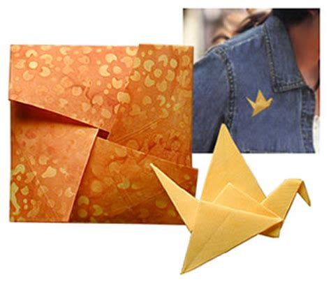 Origami Fabric Folding - fabric origami projects