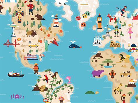 world map illustration 2 illustratedworldmap dangerdom studios