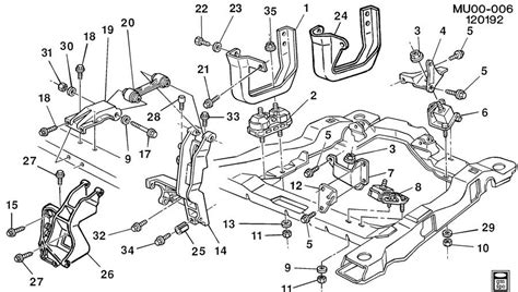 transmission control 1993 chevrolet lumina apv spare parts catalogs engine transmission mounting v6