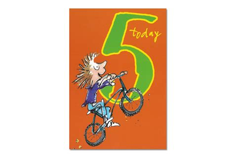 Happy 5th Birthday Wishes For Happy 5th Birthday Bicycle Greeting Card Cyclemiles