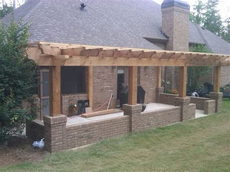 attached pergola designs pergola build concrete