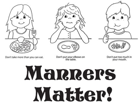 good manners coloring pages coloring home