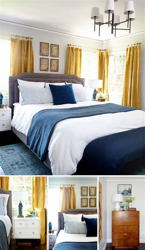 17 best ideas about navy yellow bedrooms on