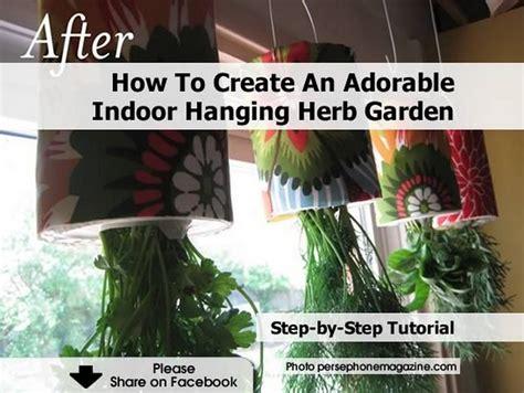 how to make your own indoor herb garden how to create an adorable indoor hanging herb garden