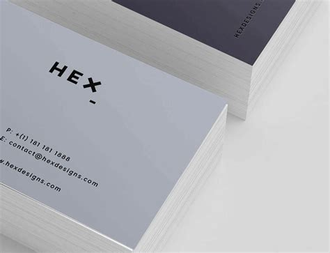 hex business card template graphic pear