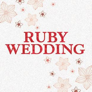 Ruby Wedding Anniversary Quotes by Ruby Wedding Anniversary Clipart 76