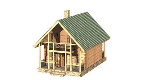 log home 3d design software my log cabin design solidworks 3d cad model grabcad