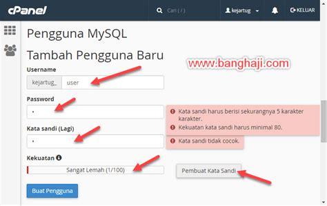 cara membuat database baru mysql cara membuat database mysql di cpanel