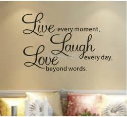 Live Love Laugh Wall Stickers decal live every moment laugh every day love beyond