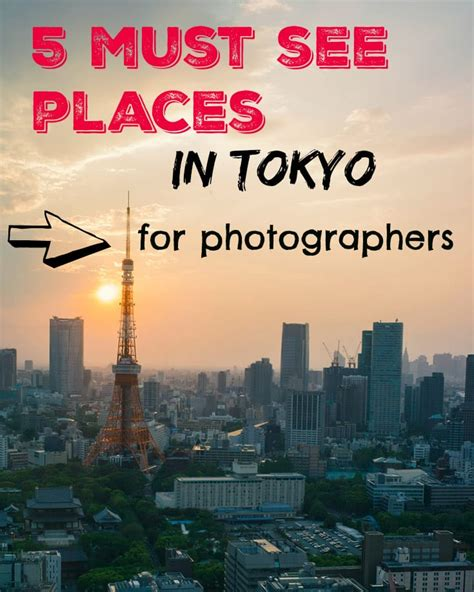 tokyo photography travel locations
