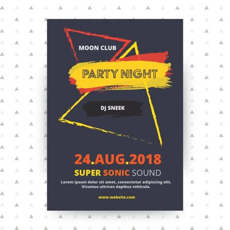 party poster template design vector free download