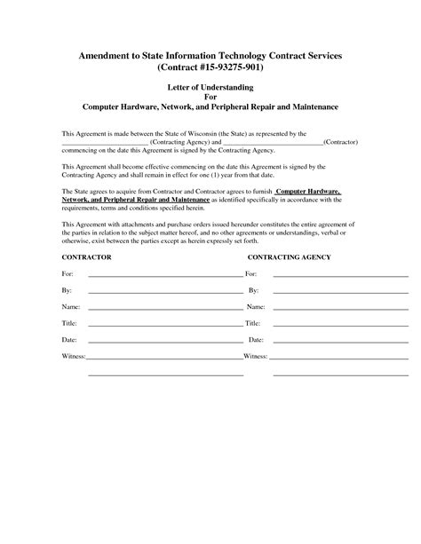 computer repair contract template computer maintenance contract sle free printable