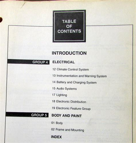vehicle repair manual 1999 lincoln continental electronic toll collection 1999 lincoln continental volume 1 2 service shop repair manual original