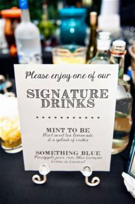 5 wedding signature cocktails wedding sites and