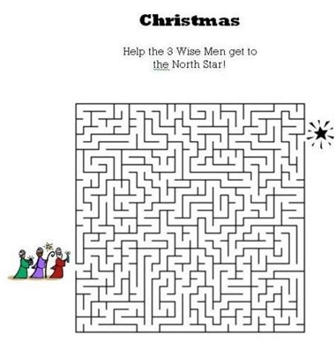 printable christmas maze worksheets 12 best images about sunday school creativities on