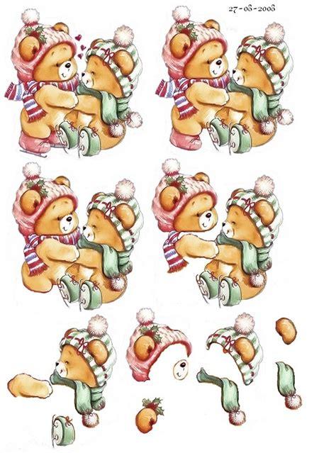 Free 3d Decoupage Sheets - knipvel kerst knipvellen decoupage 3d and