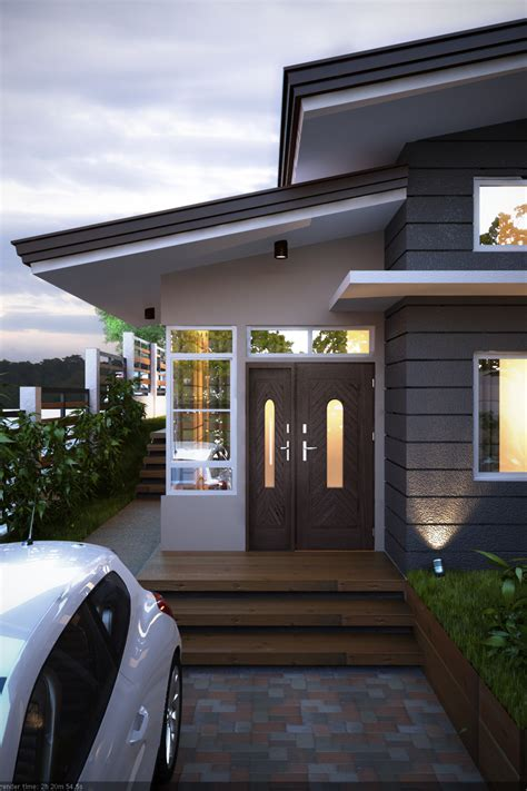 classic style split leveled house design  india home design