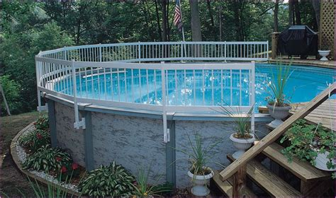 Landscaping Around Above Ground Pools Bee Home Plan Landscaping Around Above Ground Pool