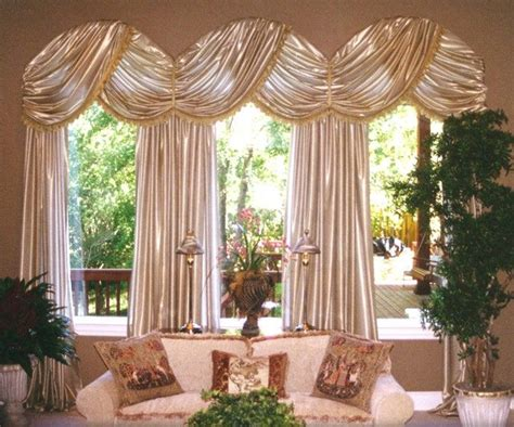 Handmade Window Treatments - custom arched window treatment for a carolina room