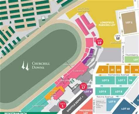 kentucky derby map maps directions 2017 kentucky derby oaks may 5 and