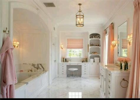 Beautiful White And Light Pink Bathroom For The Home Light Pink Bathroom