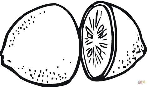 lemon 3 coloring page free printable coloring pages