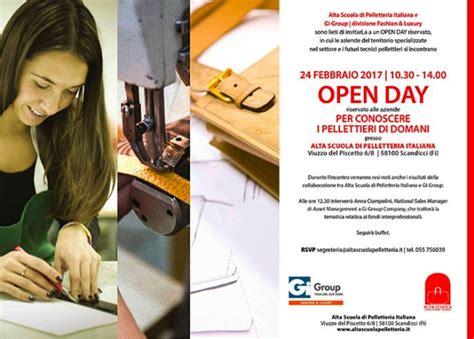 open day alla scuola di alta specializzazione aeronautica porte aperte all alta scuola di pelletteria italiana