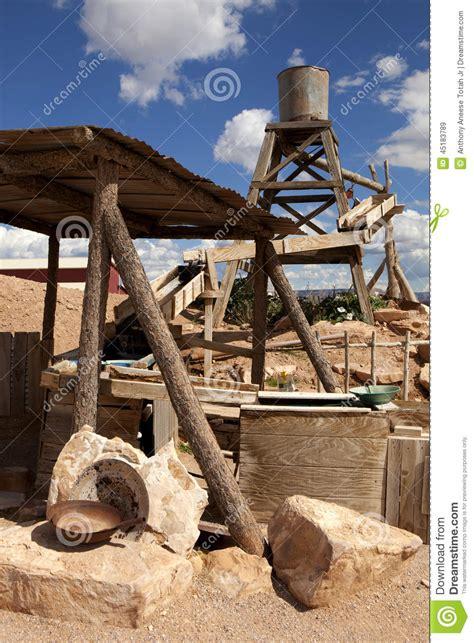 gold mining themes old western theme scene stock photo image 45183789
