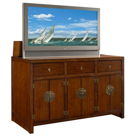 motorized tv lift cabinet tao tv lift cabinet with motorized lift brown bjs