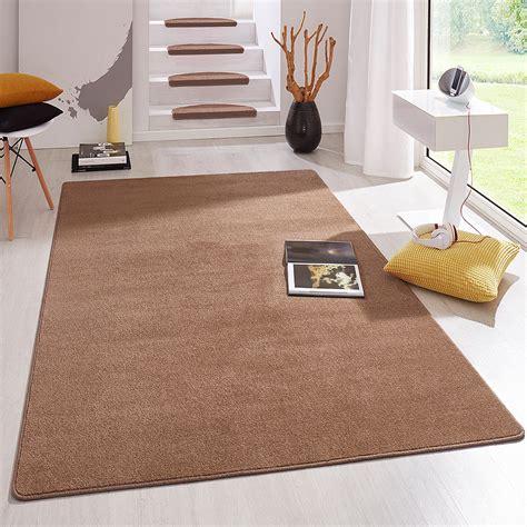 kurzflor teppich kurzflor uni teppich fancy einfarbig braun teppiche