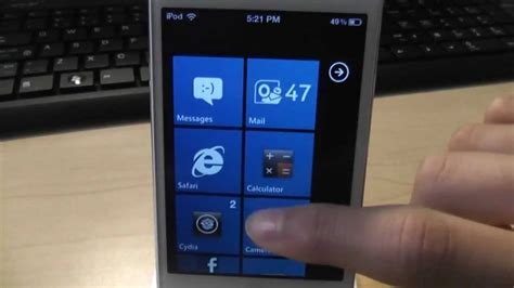 iphone themes windows 7 best windows phone 7 theme for iphone ipod touch