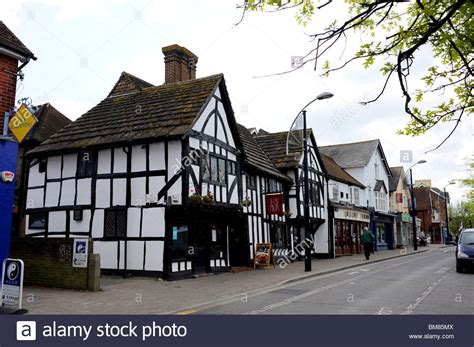 houses to buy in crawley tudor style property now an ask restaurant in crawley town centre stock photo royalty