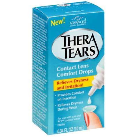 theratears contact lens comfort drops 0 34 fl oz walmart