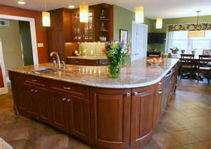 kitchen island shapes kidney shaped island kitchen captainwalt