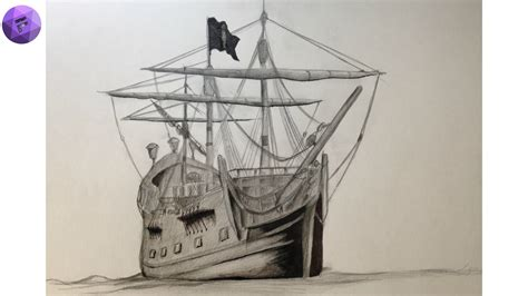 pirate boat drawing easy pirate ship draw black pearl maybe youtube