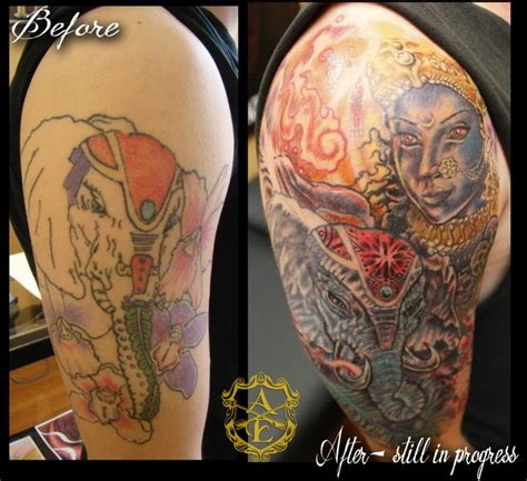 elephant tattoo bad ink 48 best from bad to badass cover ups images on pinterest