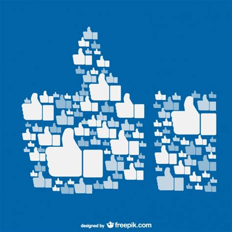 free themes like facebook like on facebook concept vector free download